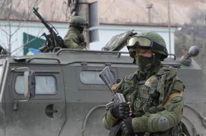 soldat rus in Crimeea