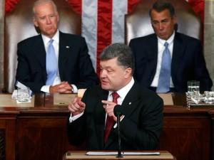 porosenko in congresul SUA