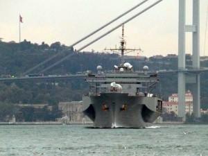 USS Mount Whitney in Bosfor