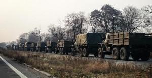 coloana militara donetsk