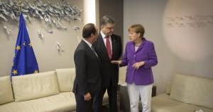 Porosenko, Merkel, Hollande