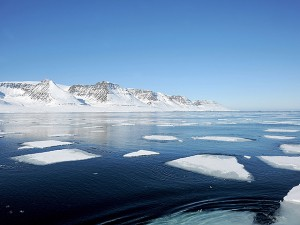 Ilulissat, Denmark, icebergs in Disko Bay