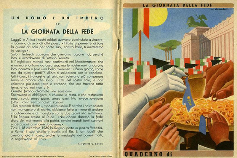 strangerea aurului in Italia