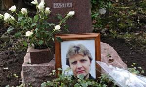 Alexander Litvinenko's grave in Highgate cemetery
