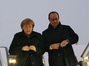 Merkel Hollande Minsk