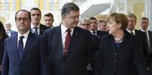 Minsk Merkel Hollande Porosenko