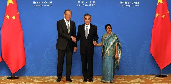 Serghei Lavrov, Sushma Swaraj, Wang Yi