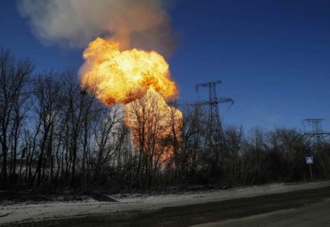 gaz conducta avariata Donbas