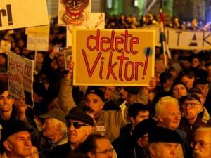 protest anti Orban
