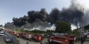 pompieri incendiu KIev