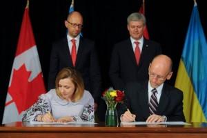 acord liber schimb Ucraina Canada