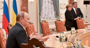 Putin Merkel Porosenko