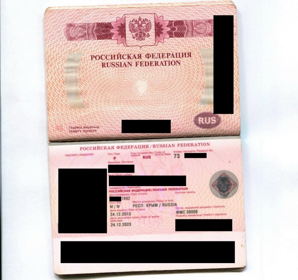 pasaport rus