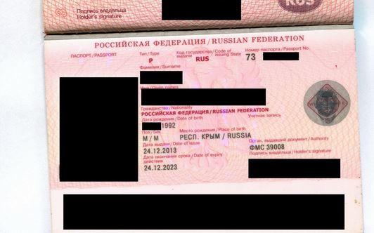 pasaport rusesc