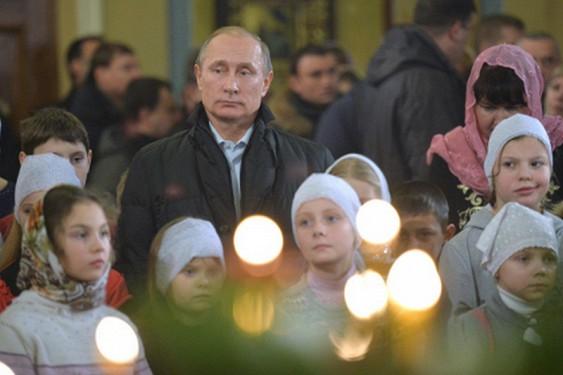 Putin biserica copii