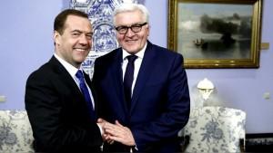 Medvedev - Frank-Walter Steinmeier