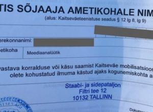 scrisori MAPN estonia